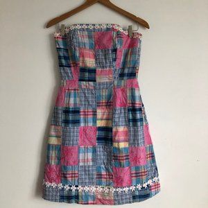 Lilly Pulitzer Plaid Strapless Dress